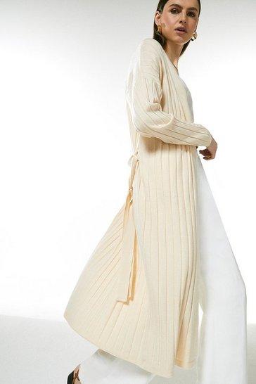 Cream Soft Yarn Knit Cardigan