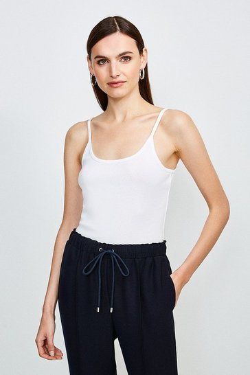 White Essential Cotton Cami Top