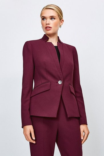 Wine City Stretch Twill Single Breasted Jacket
