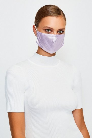 Purple Fashion Glitter Face Mask