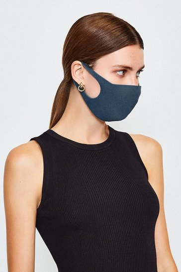 Navy Fashion Face Mask 3 Pack