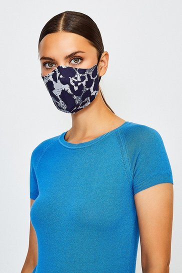 Grey Reuseable Fashion Printed Face Mask
