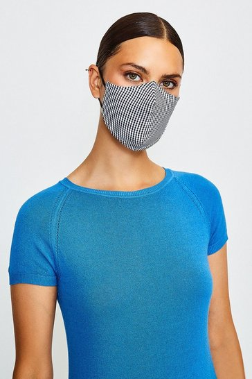 Black Reuseable Fashion Printed Face Mask