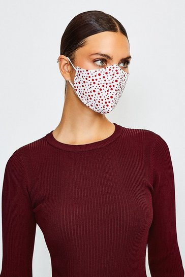 White Reuseable Fashion Printed Face Mask