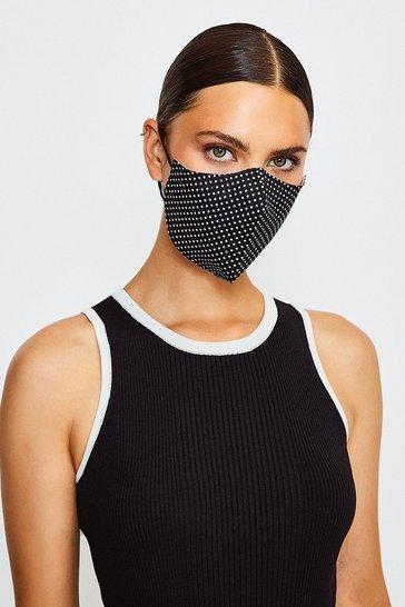 Blackwhite Reuseable Fashion Printed Face Mask