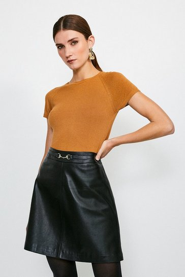 Tan Essential Knitted Tee