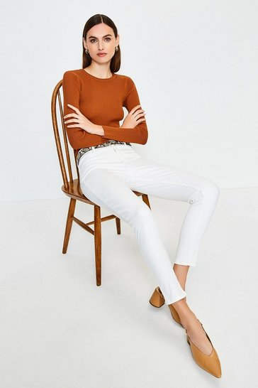 White Twill Jegging