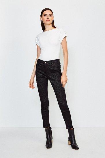 Black Sparkle Skinny Jean