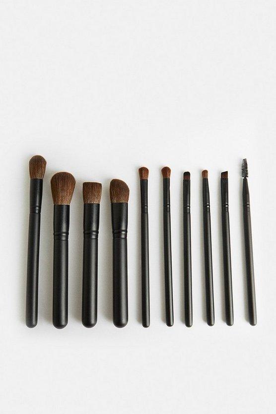 Black Luxury 10 Piece Brush Set