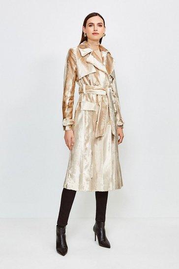 Blonde Signature Ponyskin Coat