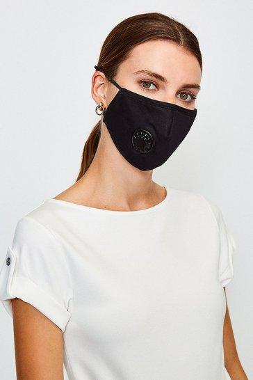 Black Filtered Fashion Face Mask