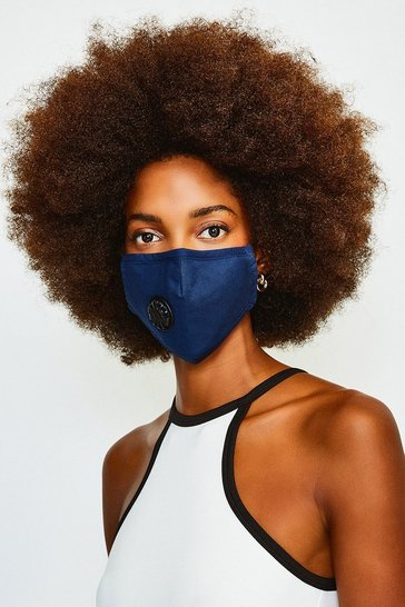 Blue Filtered Fashion Face Mask