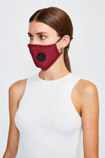 Burgundy Filtered Fashion Face Mask