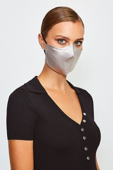 Silver Fashion Face Mask With Filter