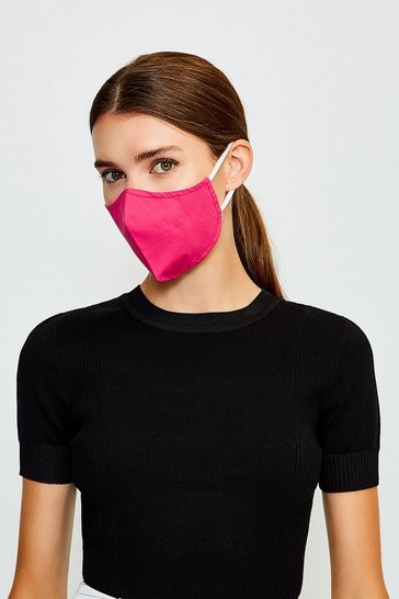Hot pink Reuseable Fashion Face Mask With Filter