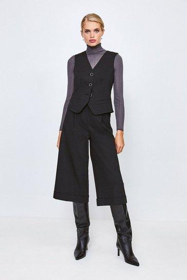 Black Tailored Waistcoat
