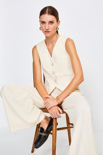 Cream Tailored Waistcoat