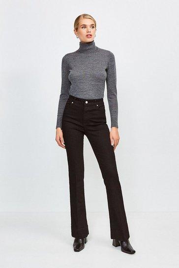 Black Flared Jean