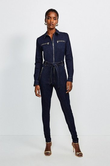 Dark Wash Denim Jumpsuit