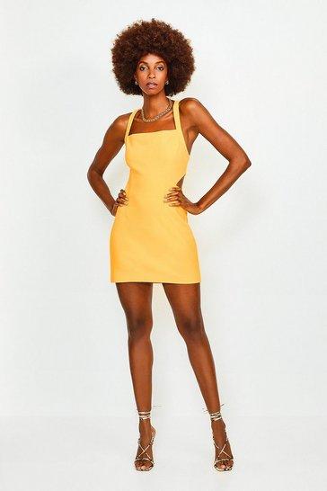 Mango Cross Back Bodycon Mini Dress