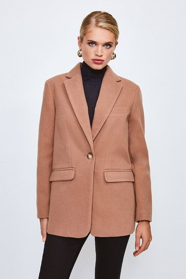 Camel Formal Blazer Coat