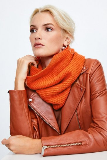 Burnt orange Cashmere Knitted Snood