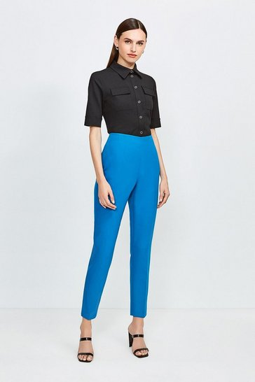 Peacock High Waisted Tapered Trousers