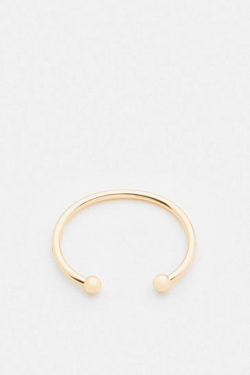 Gold Plated Ball Cuff Bangle