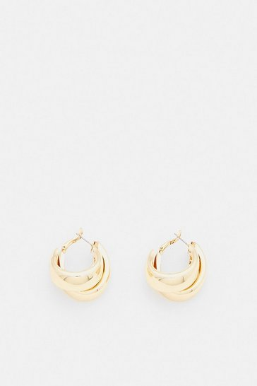 Gold Plated Chunky Hoops