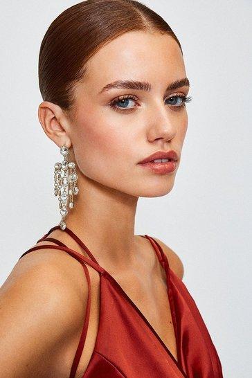 Gold Chandelier Statement Earrings