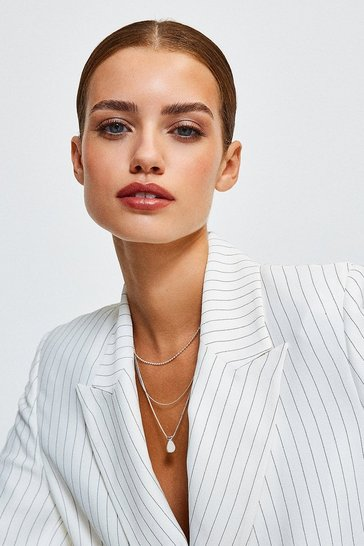 Silver Plated Layered Necklace