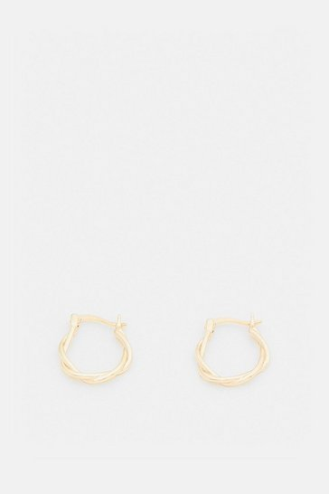 Gold Plated Twisted Hoops