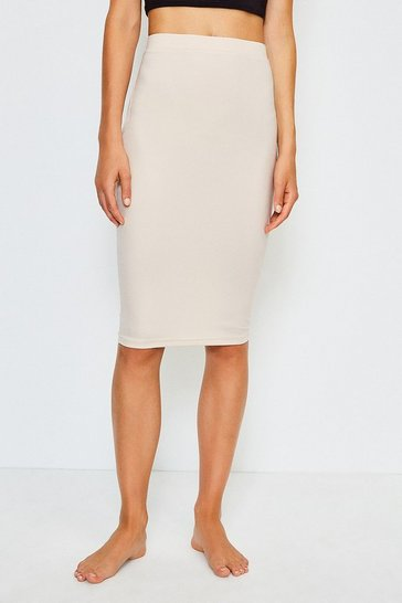 Nude Smoothing Essentials Midi Slip Skirt