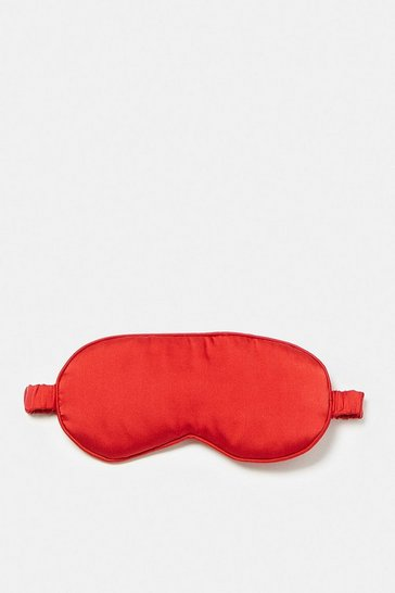 Red Silk Satin Eye Mask