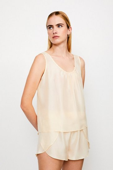Biscuit Silk Lounge Top