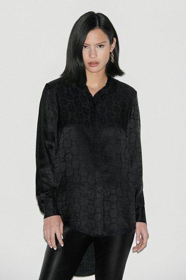Black Label Silk Jacquard Shirt