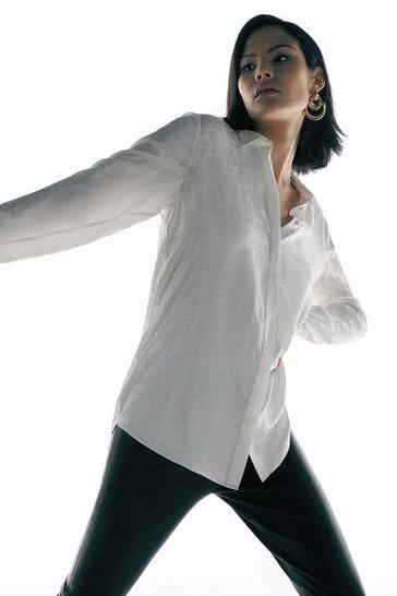 Ivory Black Label Silk Jacquard Shirt