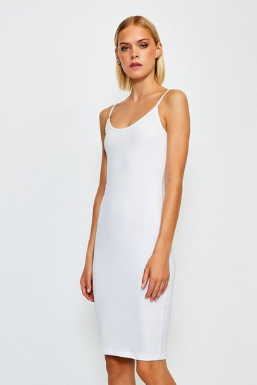White Smoothing Essentials Strappy Slip Dress
