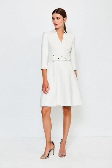 Ivory Forever Cinch Waist A-Line Dress