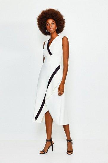 Mono Sleeveless Waterfall Dress