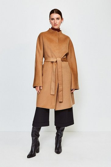 Camel Wool Blend Hand Finished Coat