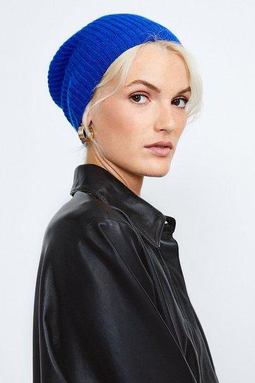 Cobalt Cashmere Hat