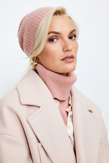 Dusty pink Cashmere Hat
