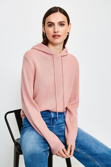 Dusty pink Cashmere Hoodie