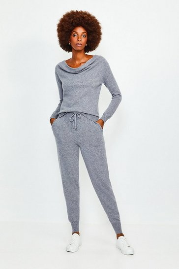 Dark grey Cashmere Cuffed Jogger