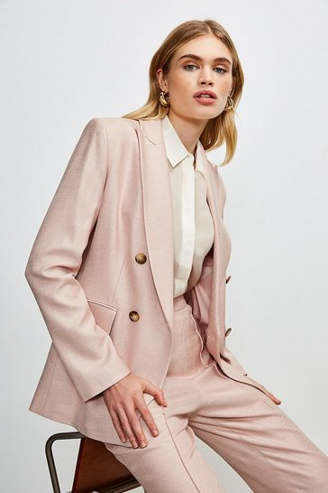 Blush Luxe Stretch Twill Jacket