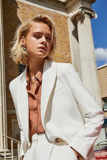 Ivory Clean Tailored Jacket