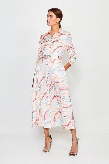 Pastel Zebra Print Dress