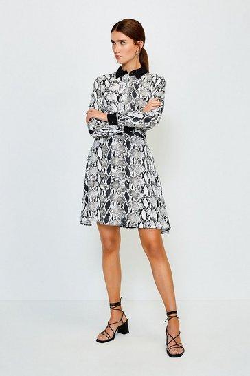 Black Classic Print Dress