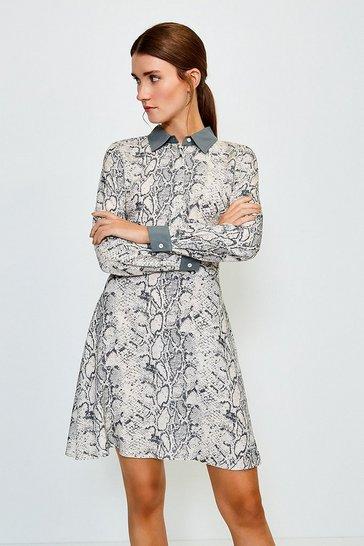 Multi Classic Print Dress
